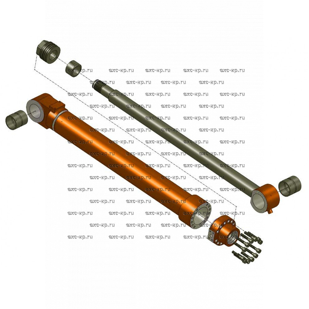 Гидроцилиндр рукояти DOOSAN S450LC-V, S470LC-V, S500LC-V (длинный тип: шток=1980мм, межцентр.расст.=2740мм)